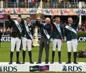 Irish Team winning last year's Aga Khan Trophy