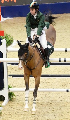 cian o'connor on super sox. The longines FEI world cup Olympia horse show 2015